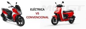 Comparativa moto eléctrica moto de combustion